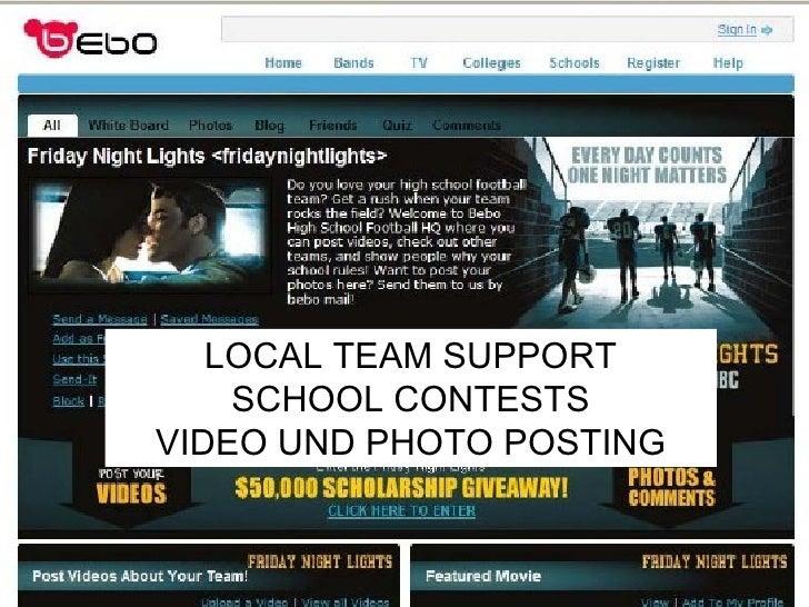 LOCAL TEAM SUPPORT SCHOOL CONTESTS VIDEO UND PHOTO POSTING