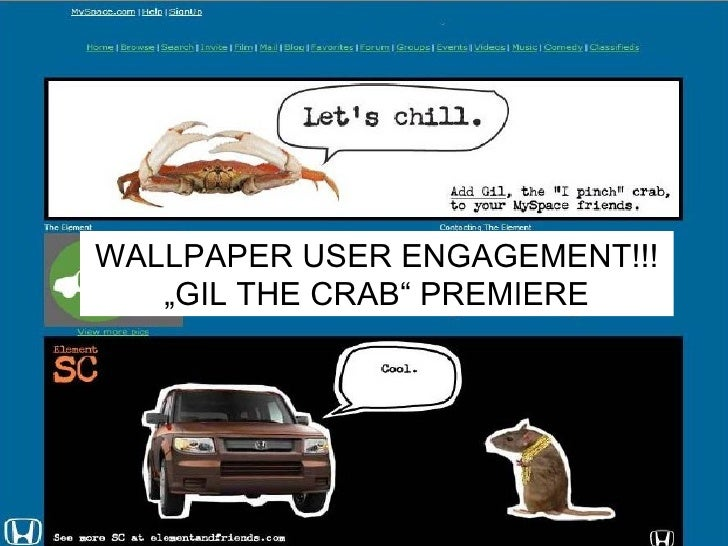 """WALLPAPER USER ENGAGEMENT!!! """" GIL THE CRAB"""" PREMIERE"""