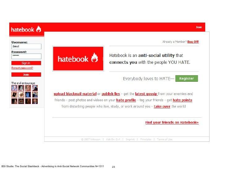 BSI Studie: The Social Slashback - Advertising in Anti-Social Network Communities N=1311