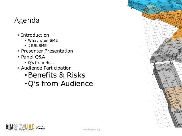 BIM Show Live 2015: BIM for SMEs #BSLSME Slide 2