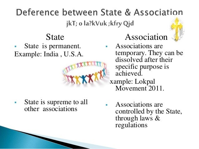 distinguish between state and society