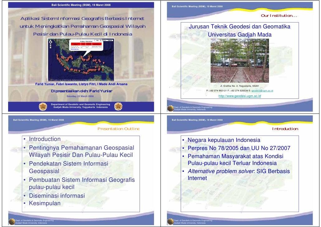 Bali Scientific Meeting (BSM), 19 Maret 2008                 Bali Scientific Meeting (BSM), 19 Maret 2008                 ...