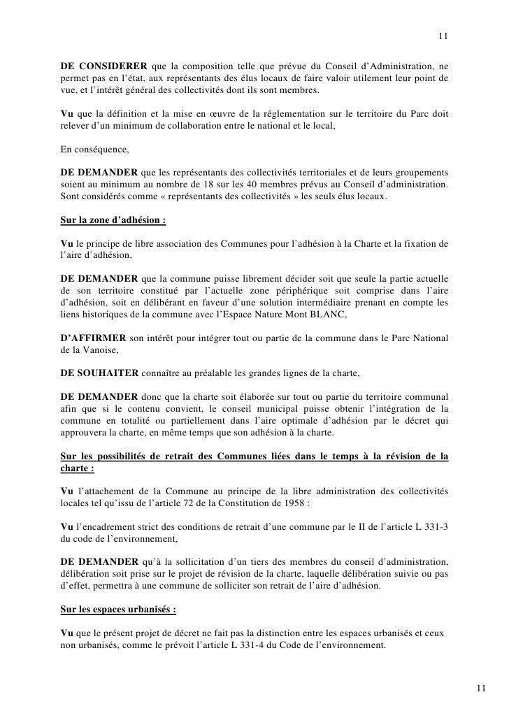11  DE CONSIDERER que la composition telle que prévue du Conseil d'Administration, ne permet pas en l'état, aux représenta...