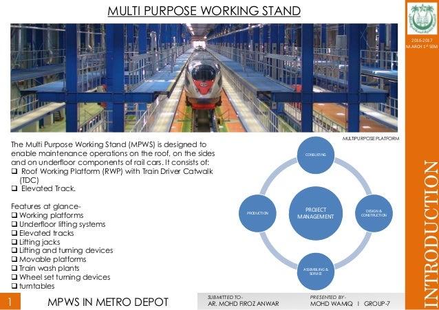 MULTI PURPOSE WORKING STAND IN METRO WORKSHOP Slide 3
