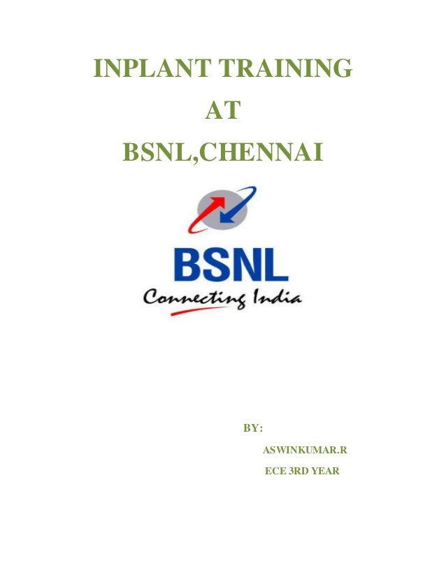 Bsnl Summer Training Report Pdf