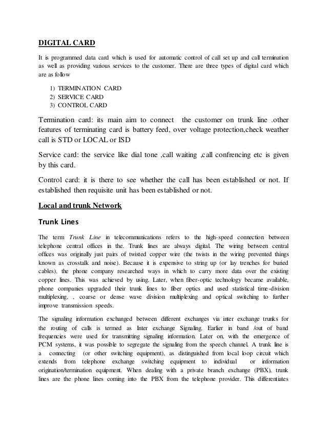 Bsnl inplant training report srm 11 spiritdancerdesigns Choice Image
