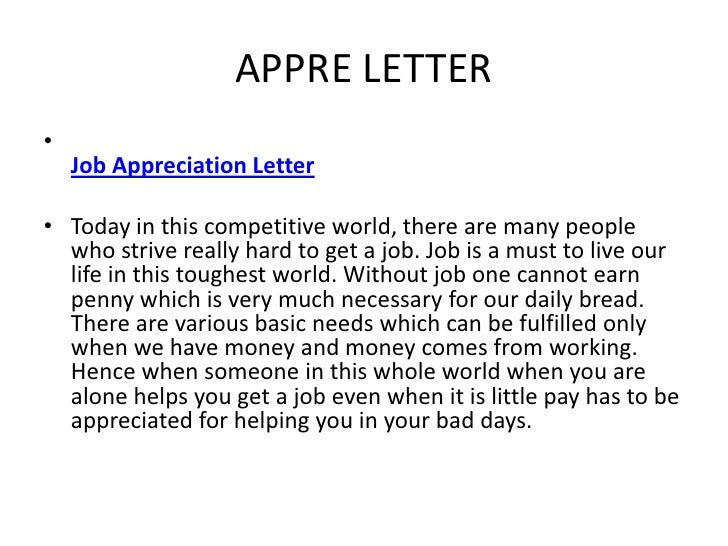 Sample Letter Of Appreciation For A Job Well Done from image.slidesharecdn.com