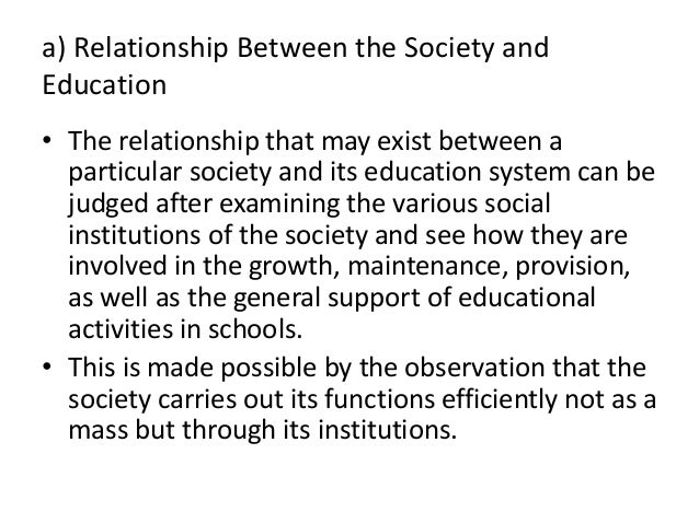 relationship between sociology and sociology of education