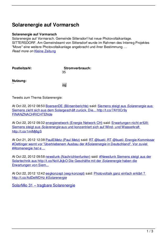 Solarenergie auf VormarschSolarenergie auf VormarschSolarenergie auf Vormarsch. Gemeinde Sittersdorf hat neue Photovoltaik...