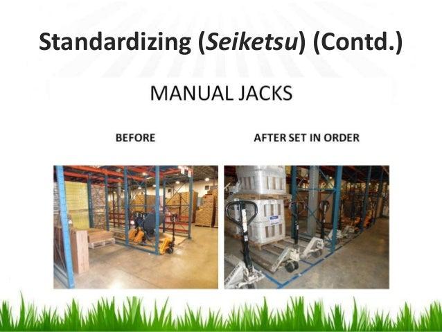 Standardizing (Seiketsu) (Contd.)