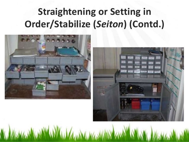 Straightening or Setting in Order/Stabilize (Seiton) (Contd.)
