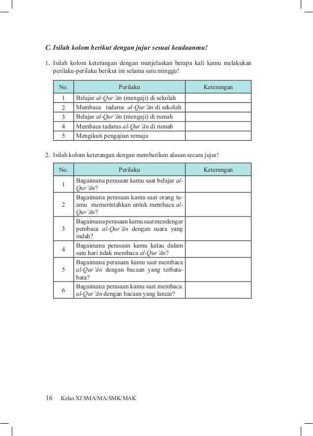 Soal Agama Islam Kelas Xi Kurikulum 2013 Pendidikan Agama Islam Sma Kelas 11 Buku Siswa