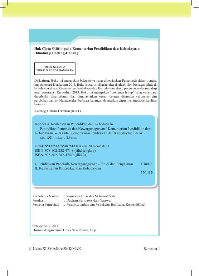 PPKn | iii  Kata  Pengantar  0 Pendidikan Pancasila dan Kewarganegaraan (PPKn) adalah mata pelajaran yang dirancang  untuk...