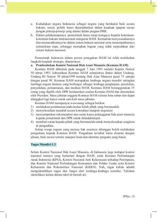 No Nama Lembaga Tugas dan Fungsi  1. Komnas Perlindungan Anak  Indonesia  2. Komisi Nasional Anti Kekerasaan  terhadap Per...