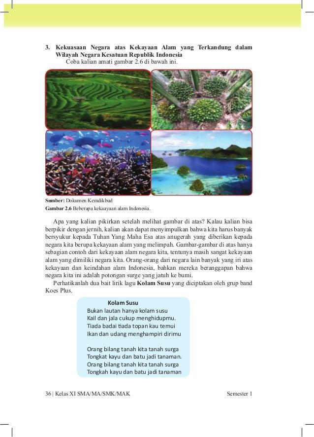 Lirik lagu di atas merupakan gambaran bahwa Indonesia adalah negara yang  memiliki kekayaan alam yang melimpah. Di atas wi...