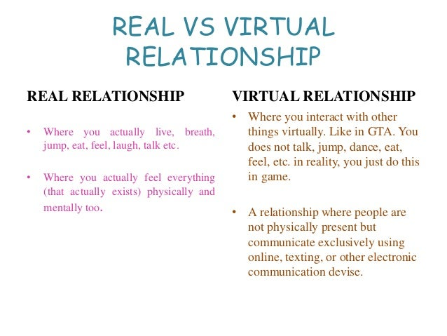 real and virtual relationship manager