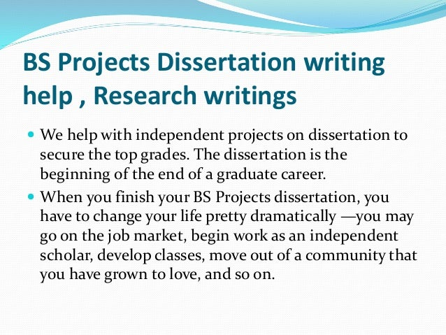 Dissertation project hints