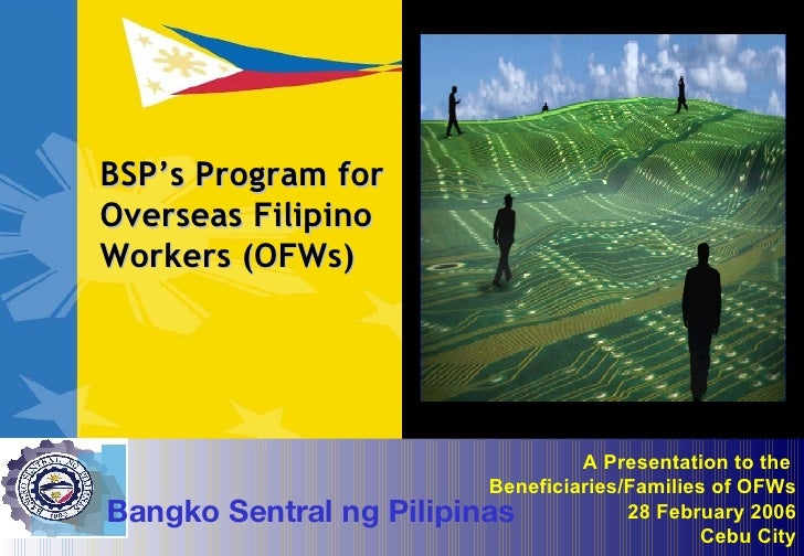 an overseas filipino worker parent Topic: effects of having an overseas filipino worker (ofw) parent on the academic performance of tertiary school students from first asia institute of technology and humanities (faith).