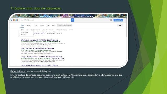 """Forma Utilizada: herramientas de búsqueda En esta captura de pantalla podemos observar que al utilizar las """"herramientas d..."""