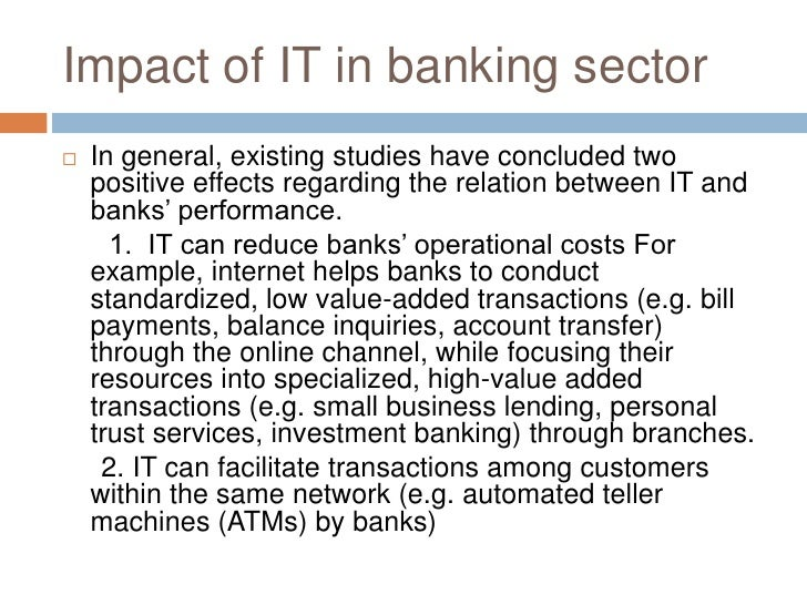 the impact of it on the This paper attempts to clarify the impacts of information technology (it) on  accounting systems the biggest impact it has made on accounting is the ability  of.