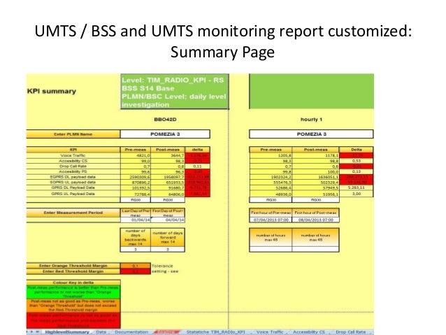 BSS / RAN / LTE reporting statistics Slide 3