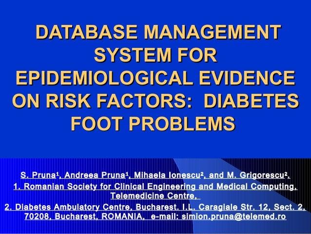 DATABASE MANAGEMENTDATABASE MANAGEMENTSYSTEM FORSYSTEM FOREPIDEMIOLOGICAL EVIDENCEEPIDEMIOLOGICAL EVIDENCEON RISK FACTORS:...