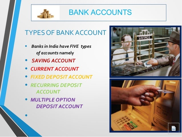 How many types of account in bank