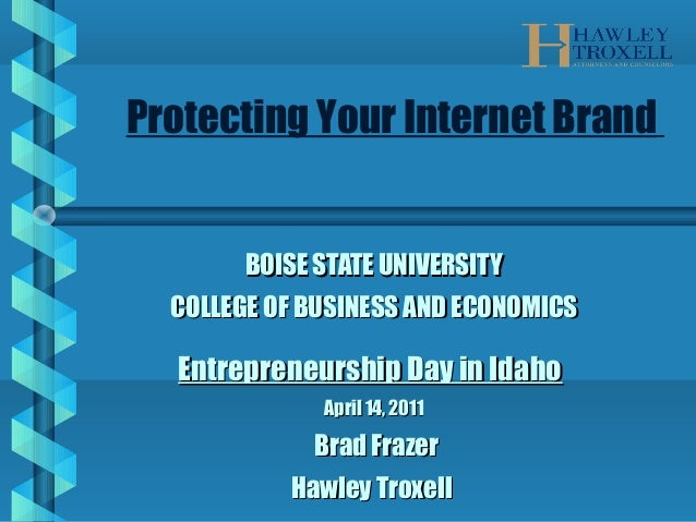 BOISE STATE UNIVERSITYBOISE STATE UNIVERSITY COLLEGE OF BUSINESS AND ECONOMICSCOLLEGE OF BUSINESS AND ECONOMICS Entreprene...