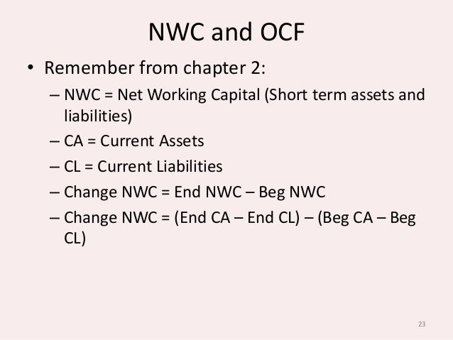how to calculate change in nwc