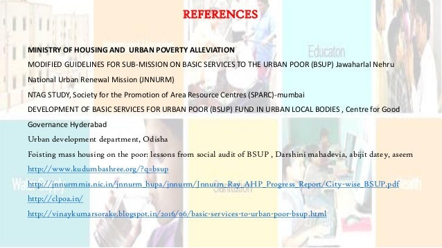 MINISTRY OF HOUSING AND URBAN POVERTY ALLEVIATION MODIFIED GUIDELINES FOR SUB-MISSION ON BASIC SERVICES TO THE URBAN POOR ...
