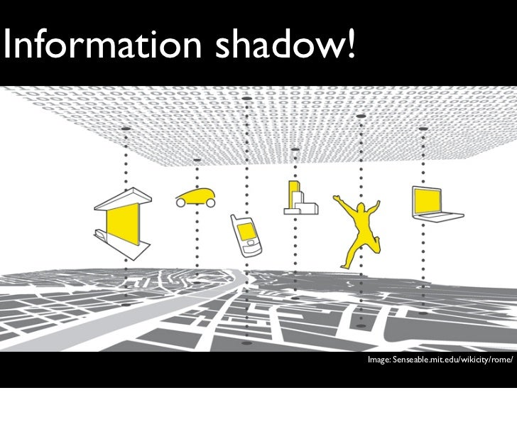 Information shadow!                      Image: Senseable.mit.edu/wikicity/rome/
