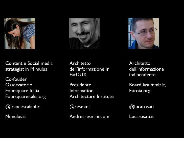 Content e Social media   Architetto               Architettostrategist in Mimulus    dell'informazione in     dell'informa...