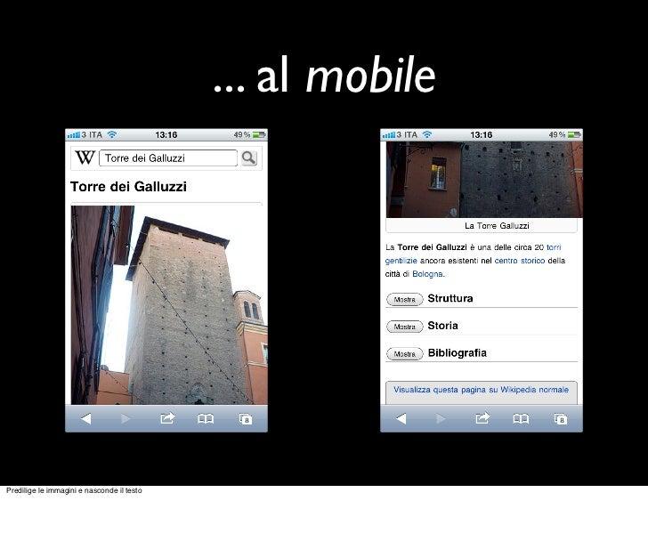 ... al mobilePredilige le immagini e nasconde il testo