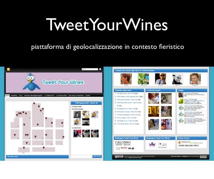 TweetYourWinespiattaforma di geolocalizzazione in contesto fieristico
