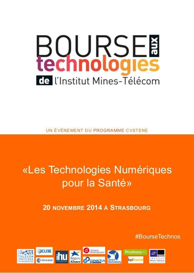 Titre du poster  UN ÉVÉNEMENT DU PROGRAMME CVSTENE  «Les Technologies Numériques  20 NOVEMBRE 2014 À STRASBOURG  #BourseTe...