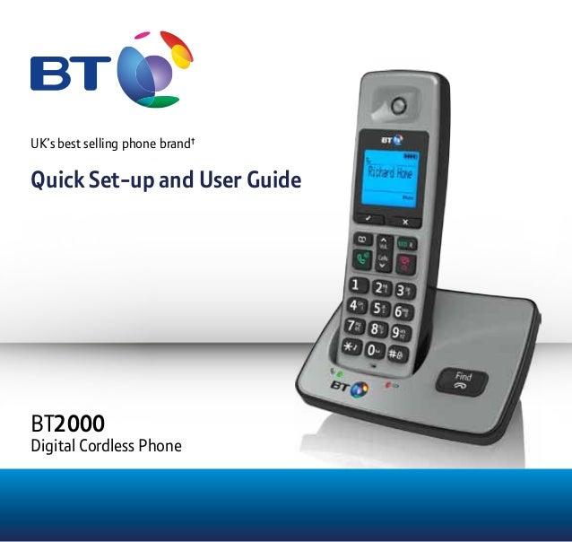 Bt 3510 digital cordless telephone user guide.