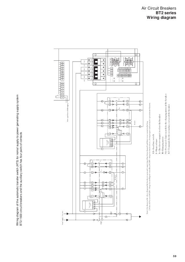air circuit breakers bt2 series  bt2 1600circuitbreakersandtheauxiliaryswitchhasfourpairsofchange overcontacts wiring diagram; 60