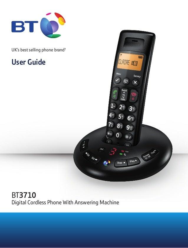 bt 3710 digital cordless telephone user guide rh slideshare net Philips Cordless Phones Panasonic Cordless Phones