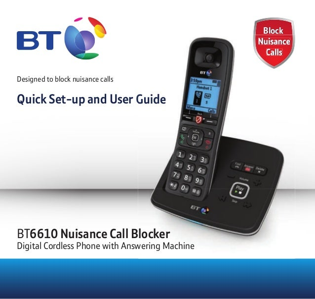 Block Nuisance Calls Block Nuisance Calls Designed to block nuisance calls Quick Set-up and User Guide Nuisance Calls Nuis...