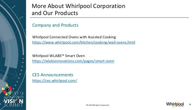 Www Whirlpool Com >> Enabling The Next Kitchen Experience Through Embedded Vision
