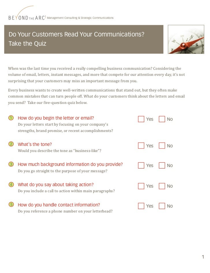 Management Consulting & Strategic CommunicationsDo Your Customers Read Your Communications?Take the QuizWhen was the last ...