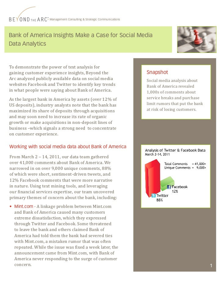Bank of america case study essay