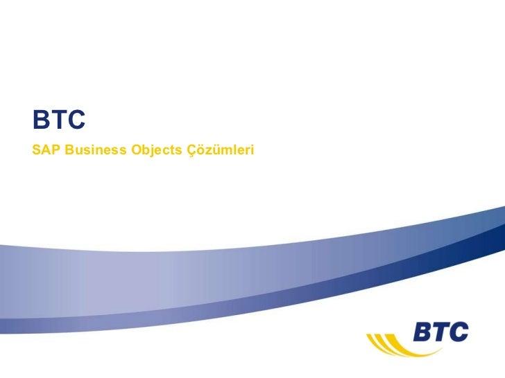BTC SAP Business Objects Çözümleri