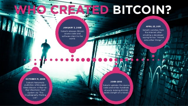WHO CREATED BITCOIN OCTOBER 31