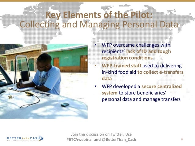 • WFP overcame challenges with recipients' lack of ID and tough registration conditions • WFP-trained staff used to delive...