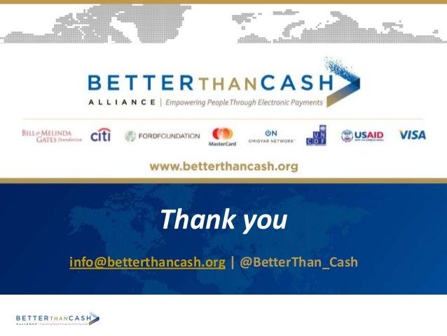 Thank you info@betterthancash.org | @BetterThan_Cash