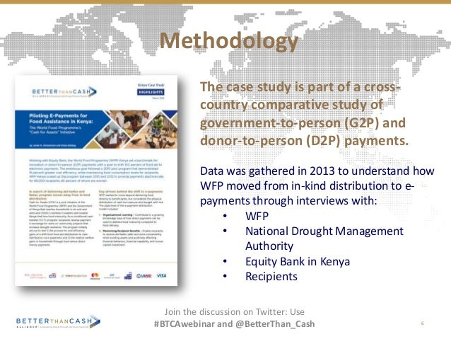 The case study is part of a cross- country comparative study of government-to-person (G2P) and donor-to-person (D2P) payme...