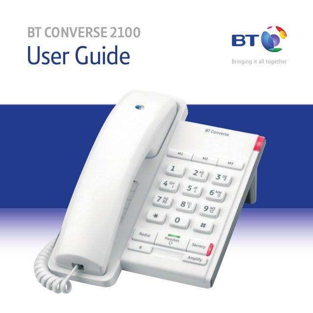 User Guide BT CONVERSE 2100