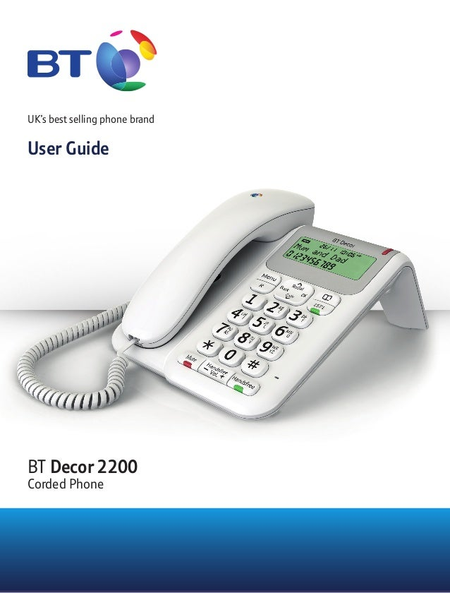 Bt decor 2500 user guide — photo 2