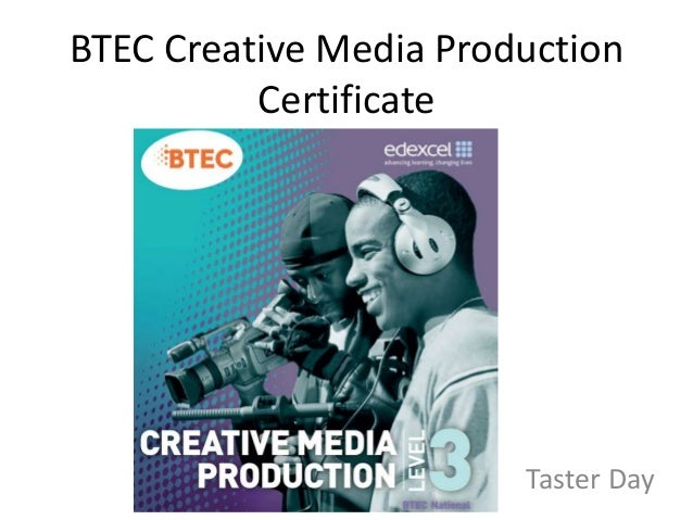BTEC Creative Media Production Certificate Taster Day